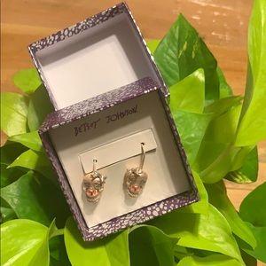 NEW rose skull earrings